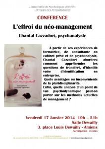 Conférence Chantal Cazzadori
