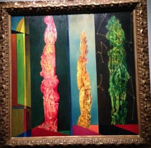 """""""Les trois Cyprès"""" 1951 Marx Ernst. Centre Pompidou de Metz"""