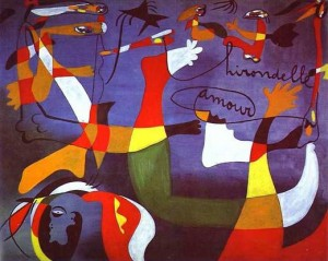 """Amour d'hirondelles"" Joan Miro"