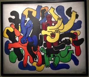 """""""Les plongeurs noirs"""", Fernand Léger. Musée Georges Pompidou de Metz"""