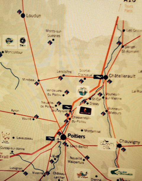 Carte du Poitou