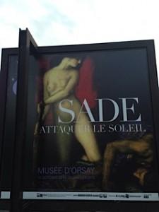 """Affiche de l'exposition """"Sade, attaquer le soleil"""", Musée d'Orsay"""