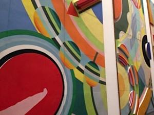 Robert Delaunay, Entrée du hall des réseaux du palais des chemins de fer, 1937 - Au musée Pompidou Metz 2015