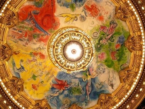 Présentation du nouveau plafond de l'Opéra conçu par Chagall