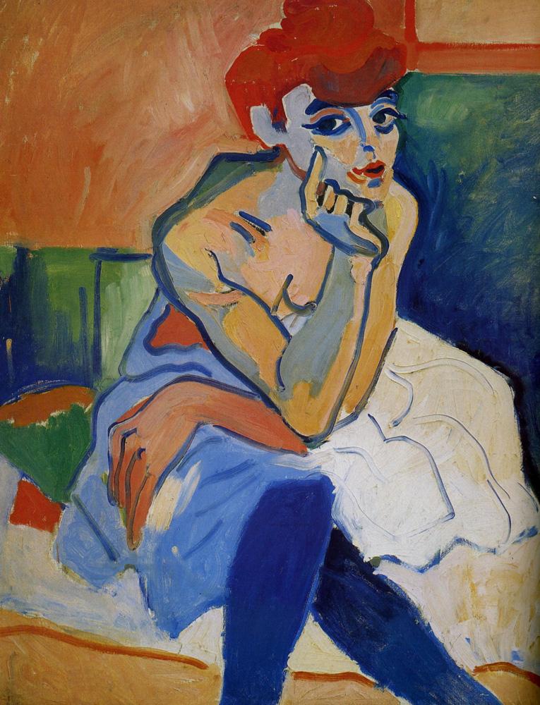 André Derain - La femme en chemise