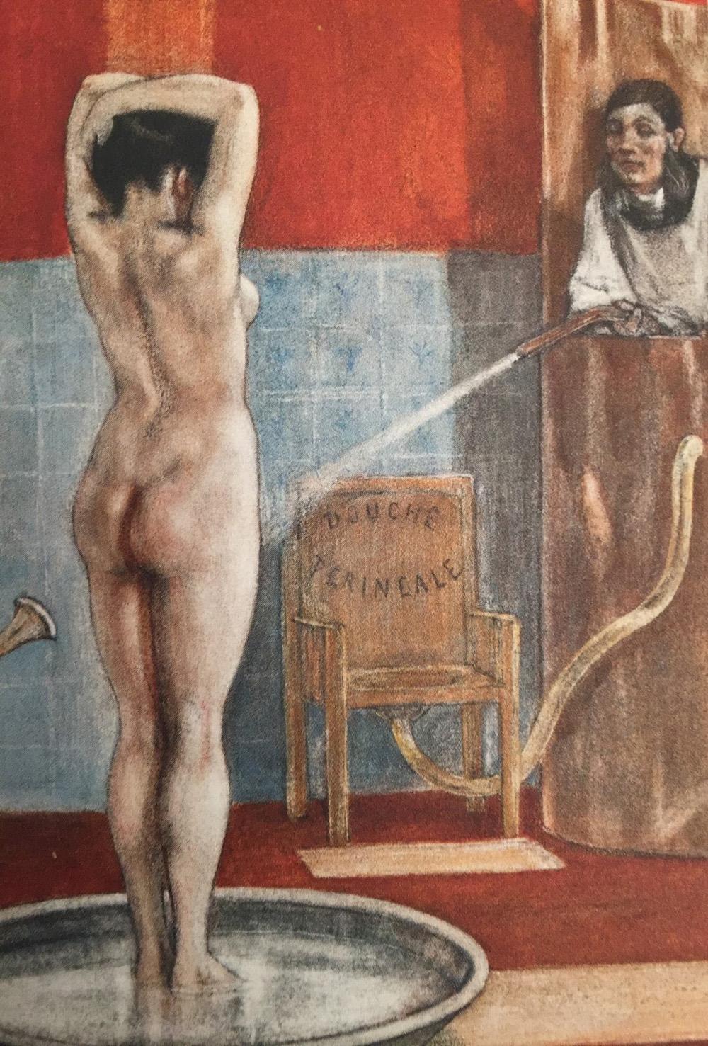 la douche périnéale : le XIXème siècle va réglementer la débauche