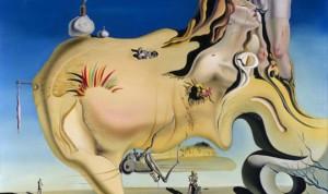 Toile de Salvador Dali - Le masturbateur