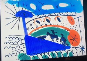 © Pablo Picasso - Image extraite du film de Clouzot « le mystère de Picasso »