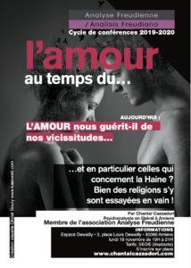 Affiche conférence sur l'Amour Chantal Cazzadori